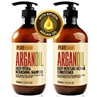 Moroccan Argan Oil Shampoo and Conditioner SLS Sulfate Free Organic Gift Set - Best...