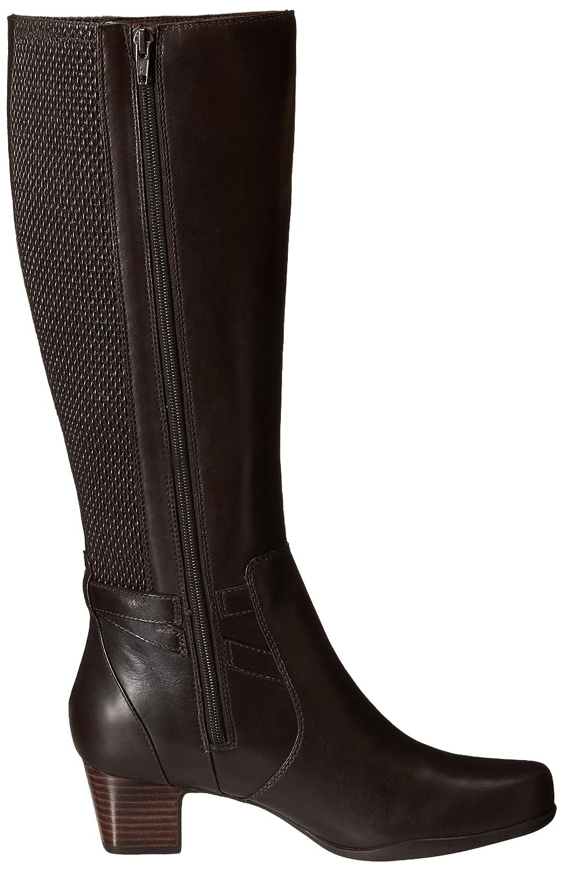 Amazon.com   CLARKS Women's Rosalyn Elise Riding Boot, Dark Brown Leather,  8.5 M US   Knee-High