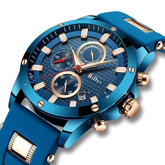 Reloj digital deportivo militar para hombre, resistente al agua, multifunción, con luces LED