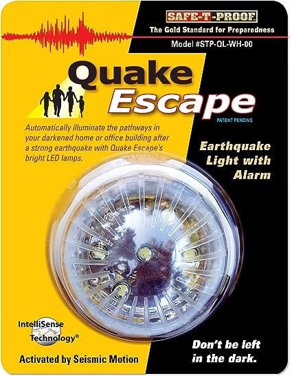 Quake Escape terremoto activado luz de 48 horas con alarma