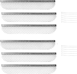 RVGUARD RV Flying Insect Screen Bug Screen for Dometic Fridges 8.1 x 1.5 Inch 6 Pack Stainless Steel Mesh Fridge Vent Cover Replacement with Zip Ties