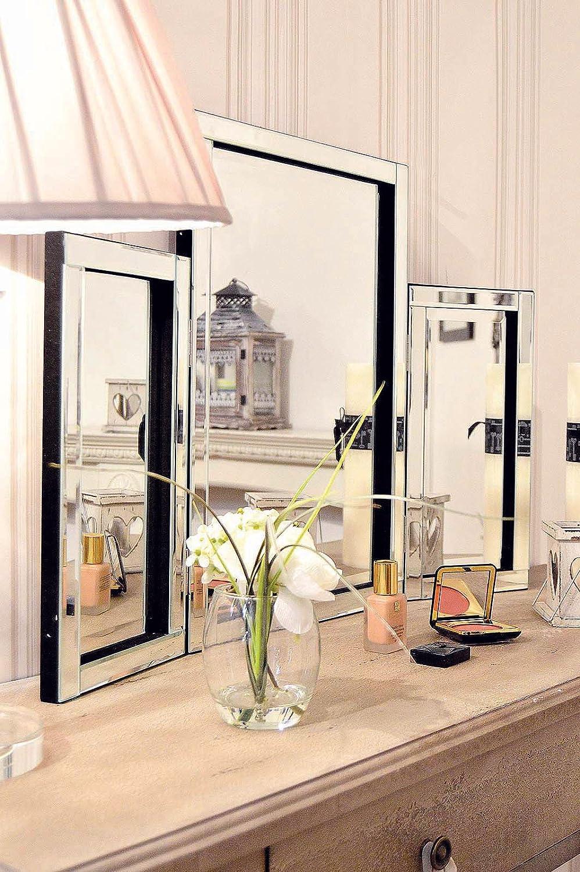 Dressing Table Mirror Modern Clear Venetian Tri Fold Free Standing Bedroom:  Amazon.co.uk: Kitchen U0026 Home