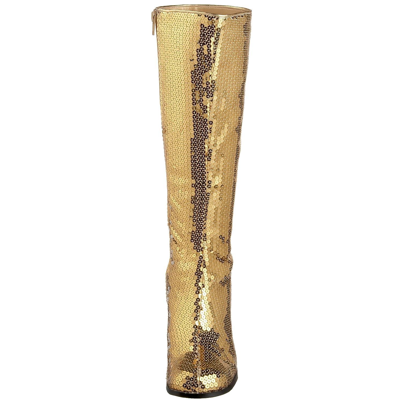 Pleaser Bordello by Women's Spectatcular-300 Sequin Gogo Boot B001TV07TS 16 B(M) US|Gold Sequins