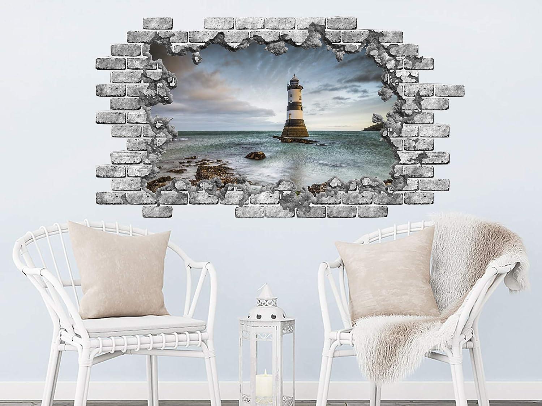 Blue Vinyl Decal Lighthouse Nautical Marine Sea Ocean Decor Wall Sticker SK