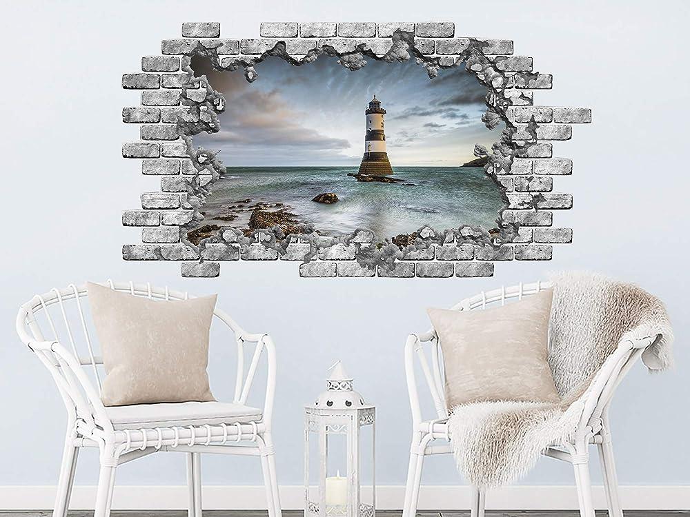 Lighthouse Wall Sticker Nautical Wall Decal Bathroom Home Decor Modern HK5
