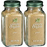 Simply Organic Ginger Root Ground Certified Organic, 1.64-Ounce Container, 2 Pack