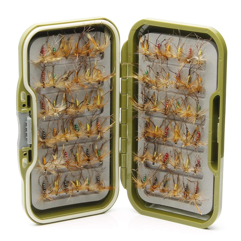 50 o 100 Moscas de Trucha secas Mixtas para Pesca con Mosca Lakeland Fishing Supplies 10 25