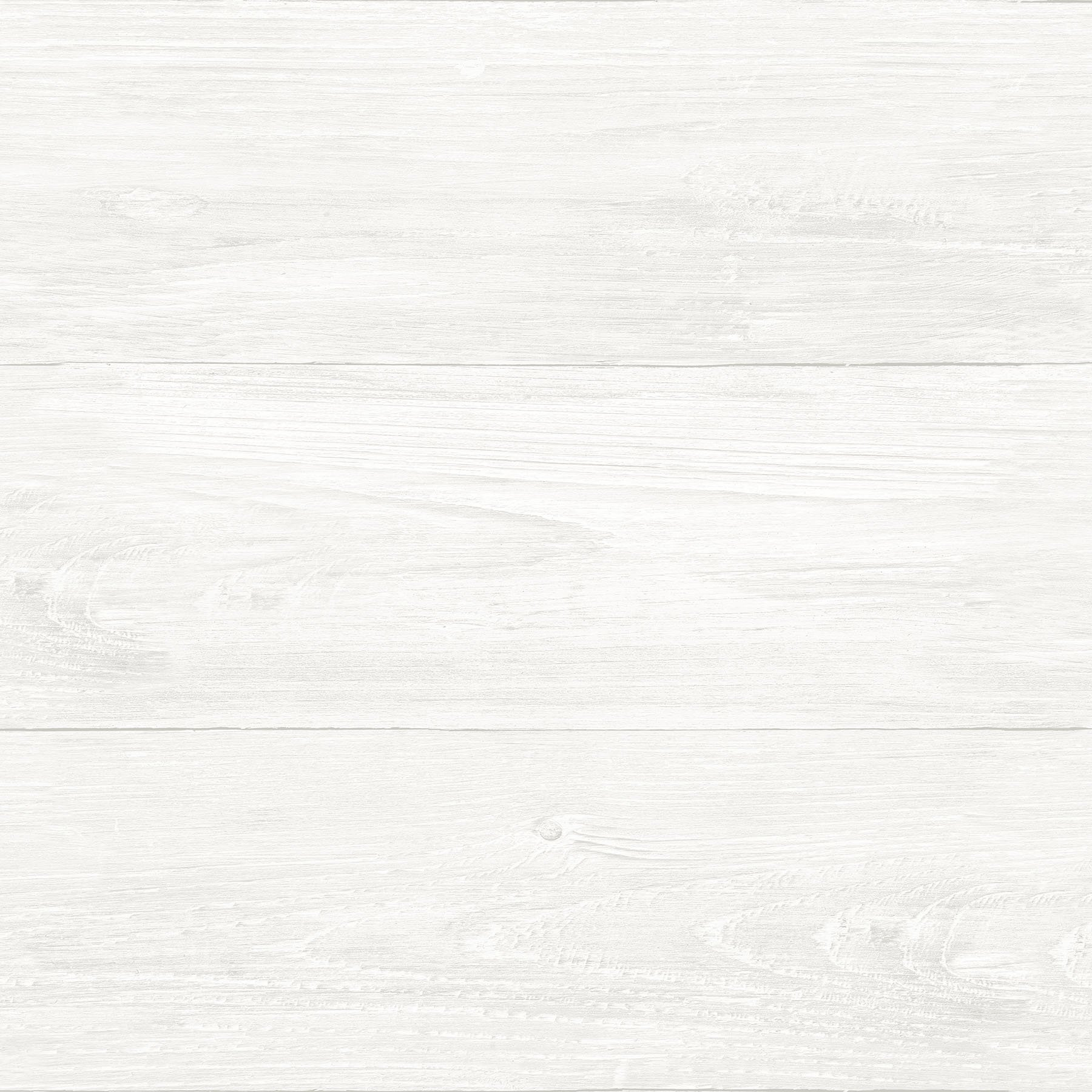 NuWallpaper NU3129 Reclaimed Shiplap Peel & Stick Wallpaper, White/Off-White by NuWallpaper