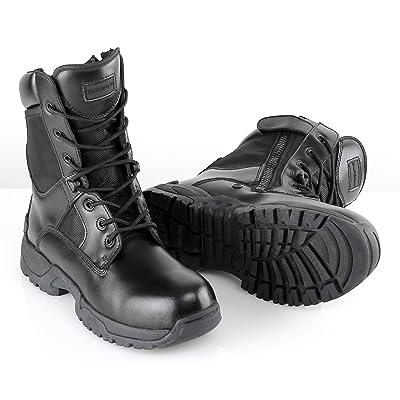 BURGAN 871 TAC Force 8 Inch Tactical Zipper Boot: Shoes