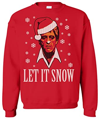 Amazoncom Shirt Fool Tony Montana Let It Snow Scarface Christmas