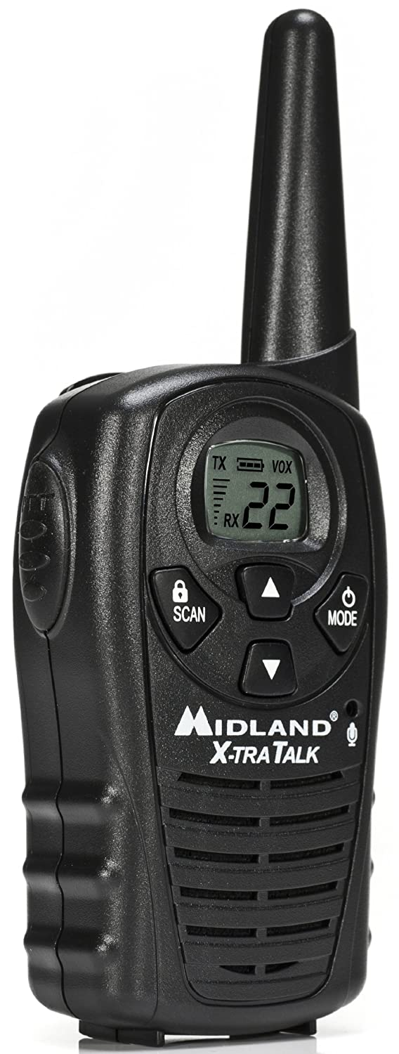 Pair Midland LXT114 22-Channel 18-Mile FRS//GMRS Two-Way Radio