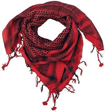 d8027571d92d Keffieh Écharpe rouge noir  Amazon.fr  Vêtements et accessoires