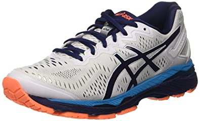 e2b36ccf Amazon.com | ASICS Mens Gel-Kayano 23 Running Shoe, White/Blue ...