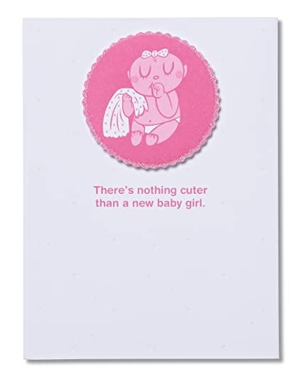 Amazon american greetings nothing cuter than a baby girl new american greetings nothing cuter than a baby girl new baby congratulations card with glitter m4hsunfo