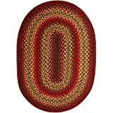 Homespice Oval Jute Braided Rugs, 6-Feet by 9-Feet, Cider Barn