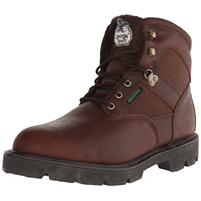 """Georgia Men's Homeland 6"""" Work Boot-M Comp Toe, Brown, 10.5 W US   Industrial & Construction Boots"""