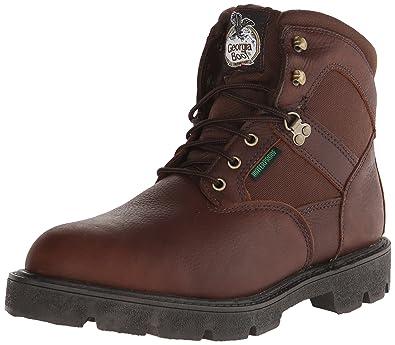 Georgia Boot Men's Homeland 6 Inch Work Shoe, Brown, ...