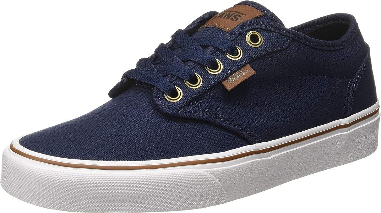 aa81fdd095 Vans Herren Atwood Canvas Sneaker Blau ((Oz C/Yellow) Dress Blues ...