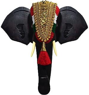 Buy Keralashopee Rosewood Elephant Face Wall Hanging Coat Hanger 10