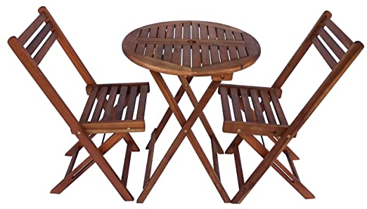 amazon com zen garden zg012 eucalyptus wood foldable 3 piece round