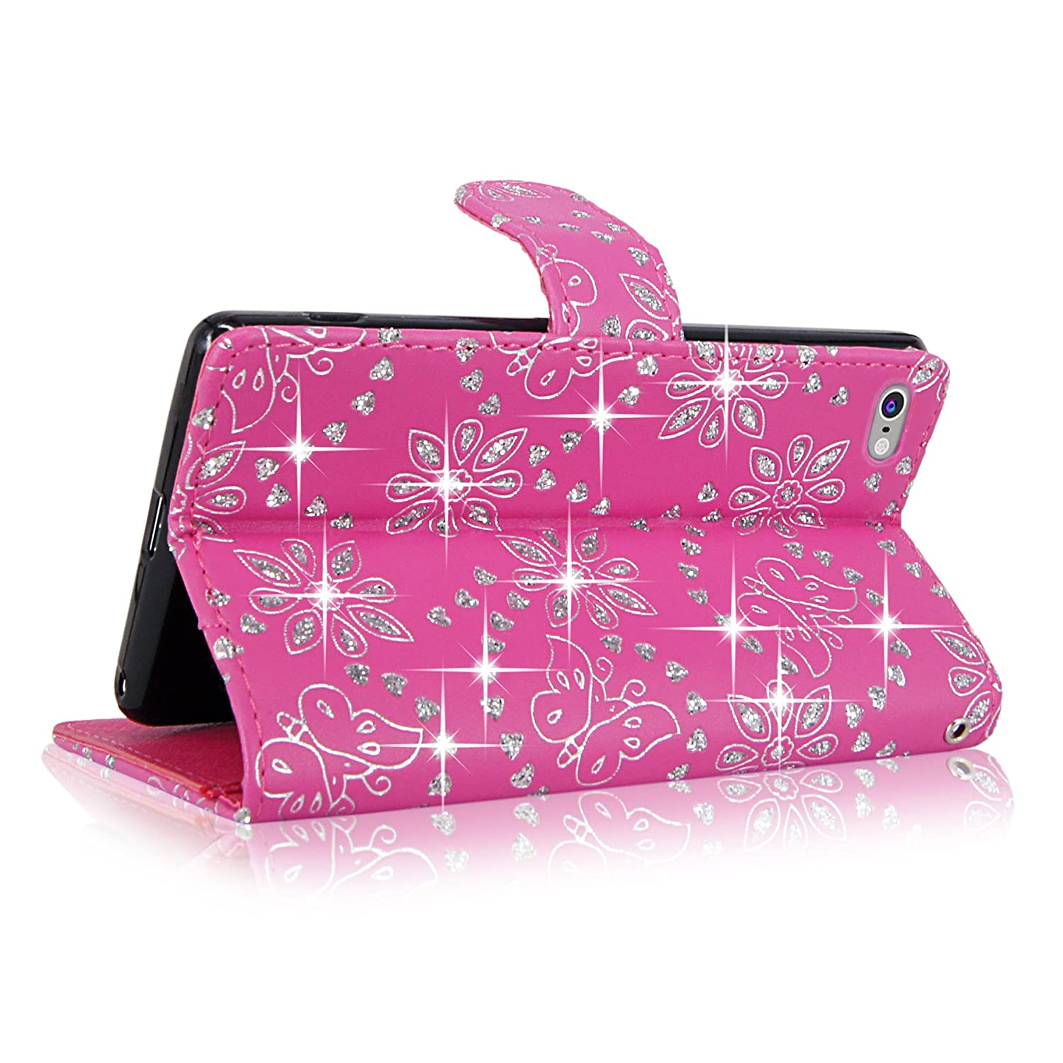 Cellularvilla Leather Pockets Detachable Glitter Image 2