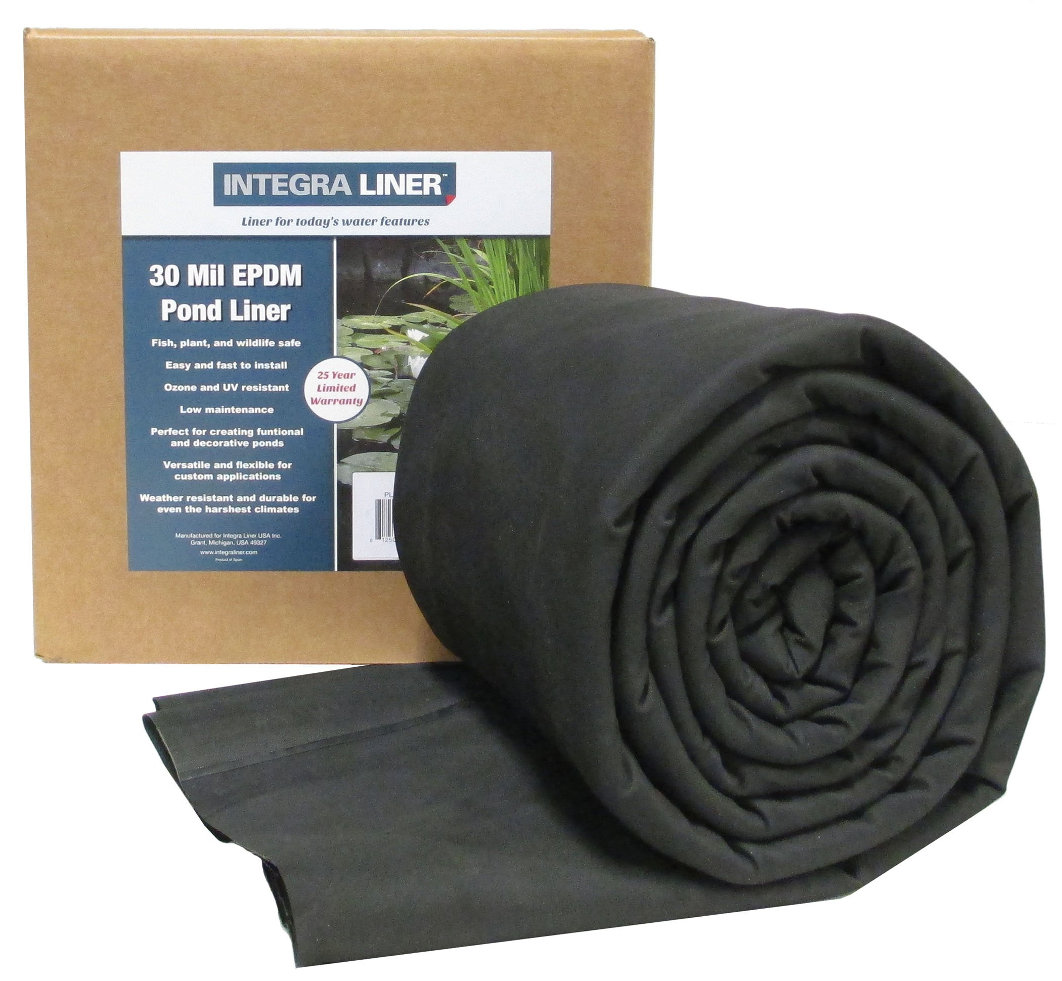 EasyPro Pond Products PL30-1520 Integra 30 Mil EPMD Rubber Pond Liner, 15 x 20' by EasyPro Pond Products