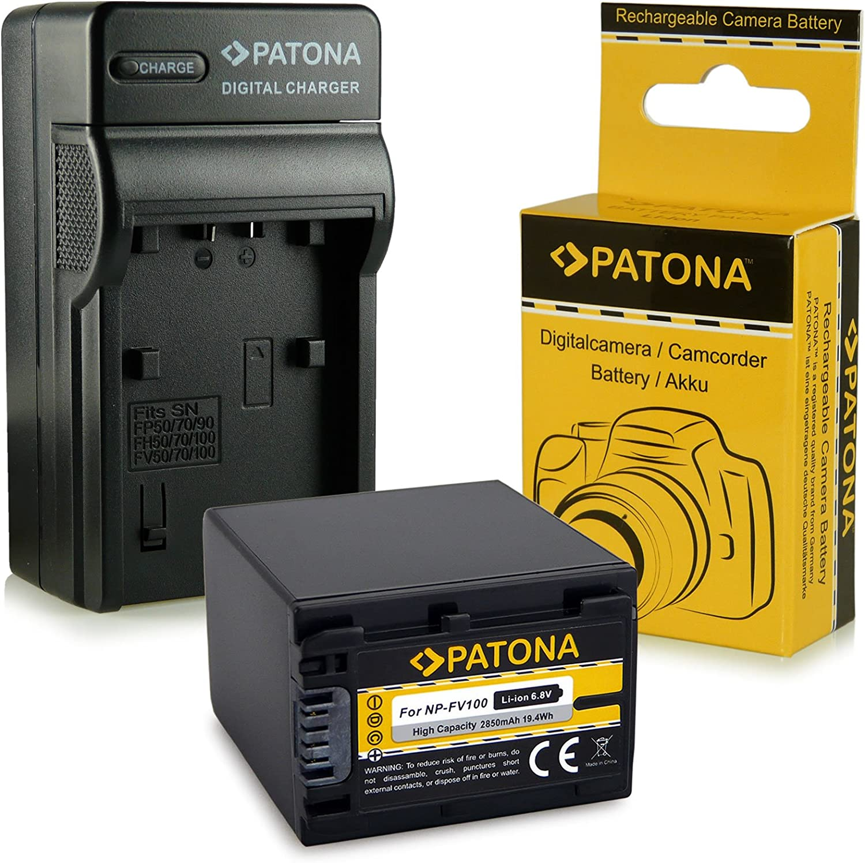 Patona 3in1 Ladegerät Akku Np Fv100 Kamera
