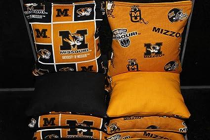 New! BackYardGamesUSA 8 Cornhole BEANBAGS Made w Iowa Hawkeyes Fabric ACA Reg Bags