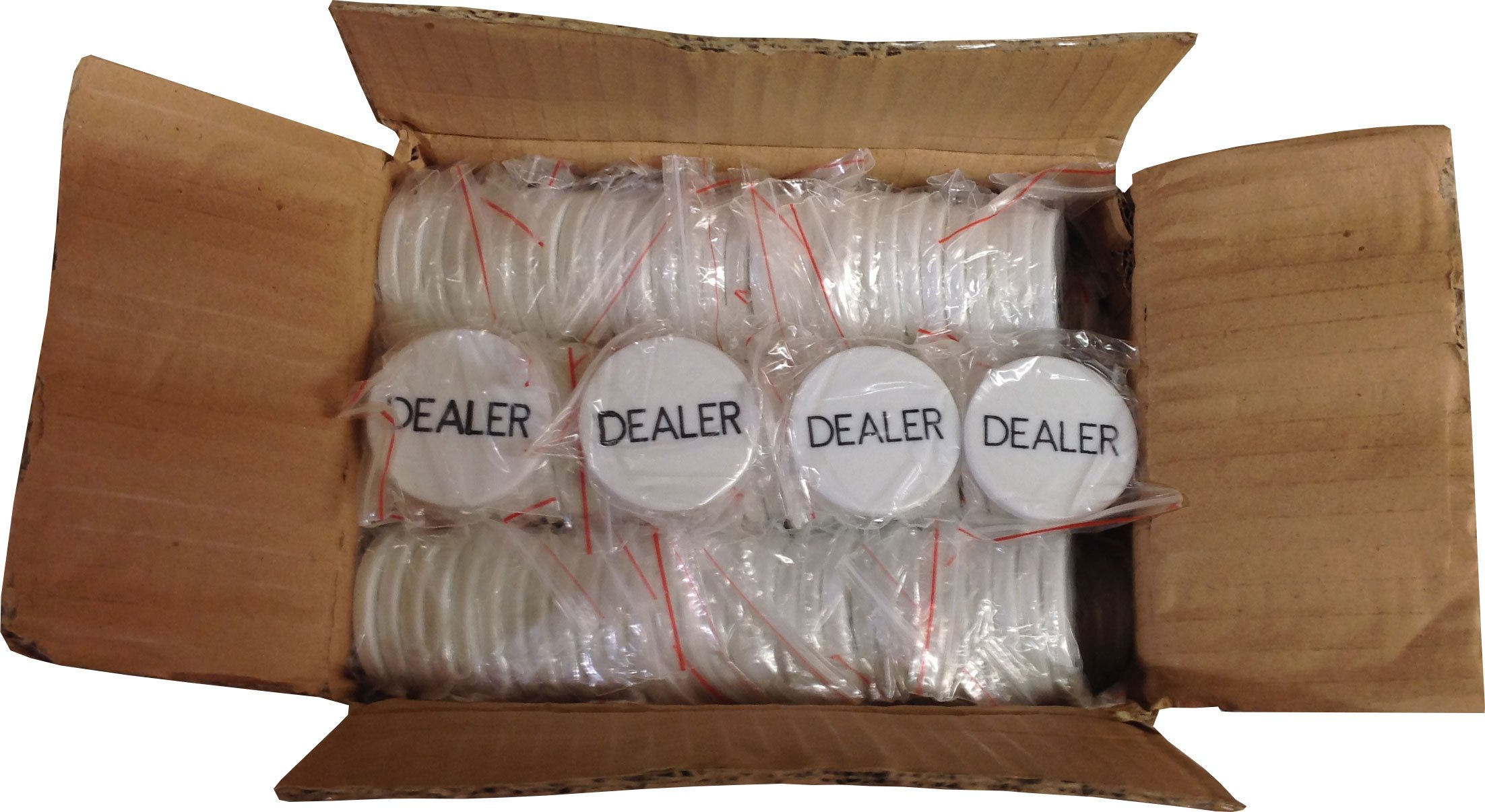 288 Real DEALER BUTTONS for POKER HOLD'EM Casino Las Vegas Tournament Style NEW