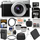 Panasonic Lumix DC-GX850 4K Wi-Fi Digital Camera & 12-32mm Lens (Silver) with 64GB Card + Case + Battery & Charger + Tripod + Tele/Wide Lens Kit