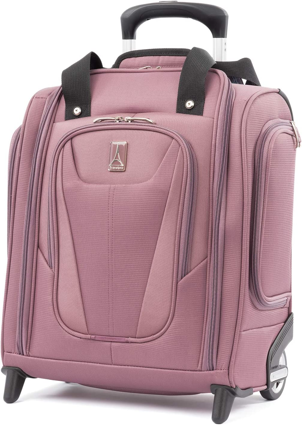 Travelpro Maxlite 5 - Rolling Underseat Compact Carry-On Bag, Dusty Rose, 15-Inch