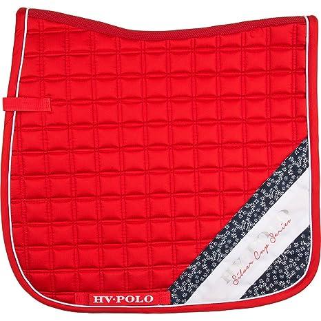 Hv Polo Tapis De Selle De Dressage Salene Rouge Taille Cheval