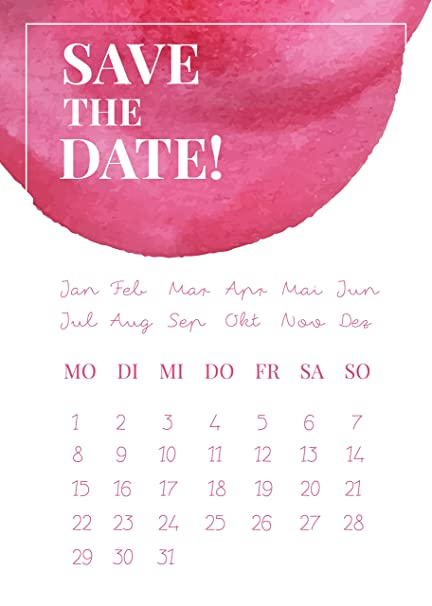 10 tarjetas de Save The Date, bodas, Invitación ...