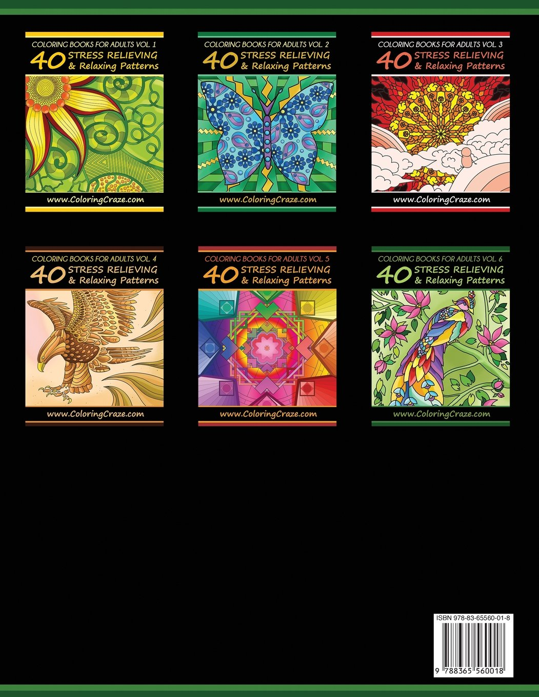Coloring Books For Adults Volume 6 40 Stress Relieving And Relaxing Patterns Adult Series By ColoringCraze
