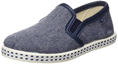 Conguitos Boys Yute Espadrilles, Blue (Blue 58), 2UK Child