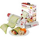 Vasta 2-in-1 Vegetable & Fruit Sheet & Noodle Slicer – BPA-Free, Stores Away Easily- Create Low Carb Veggie Sheets…