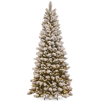 Snowy Christmas Tree.Amazon Com 7 5 Pre Lit Snowy Westwood Pine Artificial