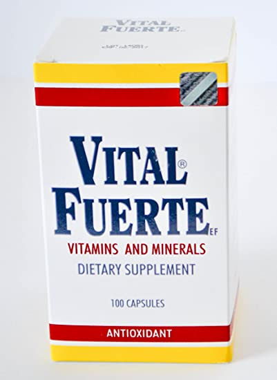Vital Fuerte Vitamins And Minerals Dietary Supplement 100 Capsules Antioxidant