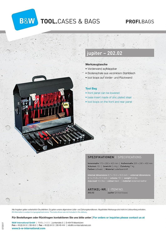 201.01 Lieferung erfolgt ohne Werkzeug B/&W Werkzeugtasche Mars