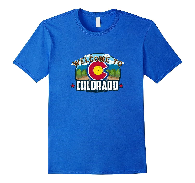 Welcome To Colorado  CO Rocky Mountain Pride 420 T-shirt-CD