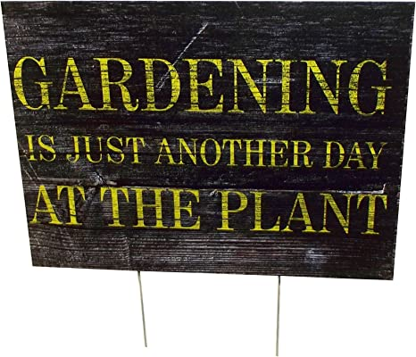 16 X 12 inches Aahs Engraving Garden Sentiment Novelty Yard Sign