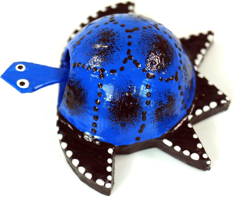 Wackelkopf Tier Farbe: Blau Tierfiguren Guru-Shop Wackeltier Schildkr/öte Blau 2x6x6 cm