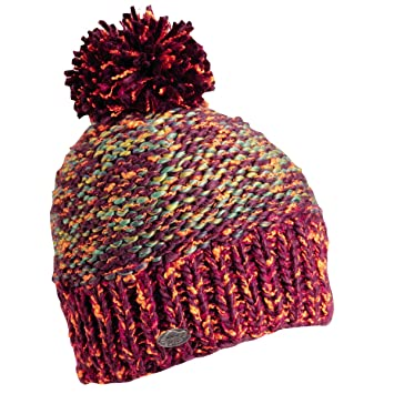 8a626f128d4 Turtle Fur Firefly Women s Relaxed Fit Variegated Hand Knit Pom Winter Hat  Plum  Amazon.ca  Sports   Outdoors