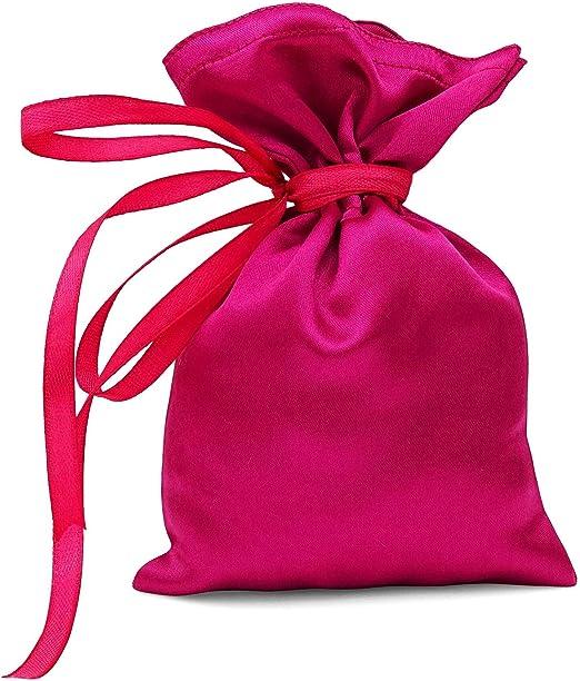 Edge 12Pcs Gift Bag Wedding Favor Jewellery Bag Drawstring Pouch Red Velvet