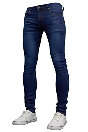91198a1306141 Soulstar Mens Boys Designer Super Skinny Stretch Jeans, Black/Dark Blue  BNWT at Amazon Men's Clothing store:
