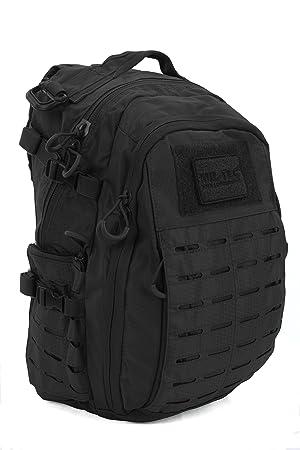 Mil-Tec Mochila Black Hextac Tactical Assault 25 litros Military Airsoft: Amazon.es: Deportes y aire libre