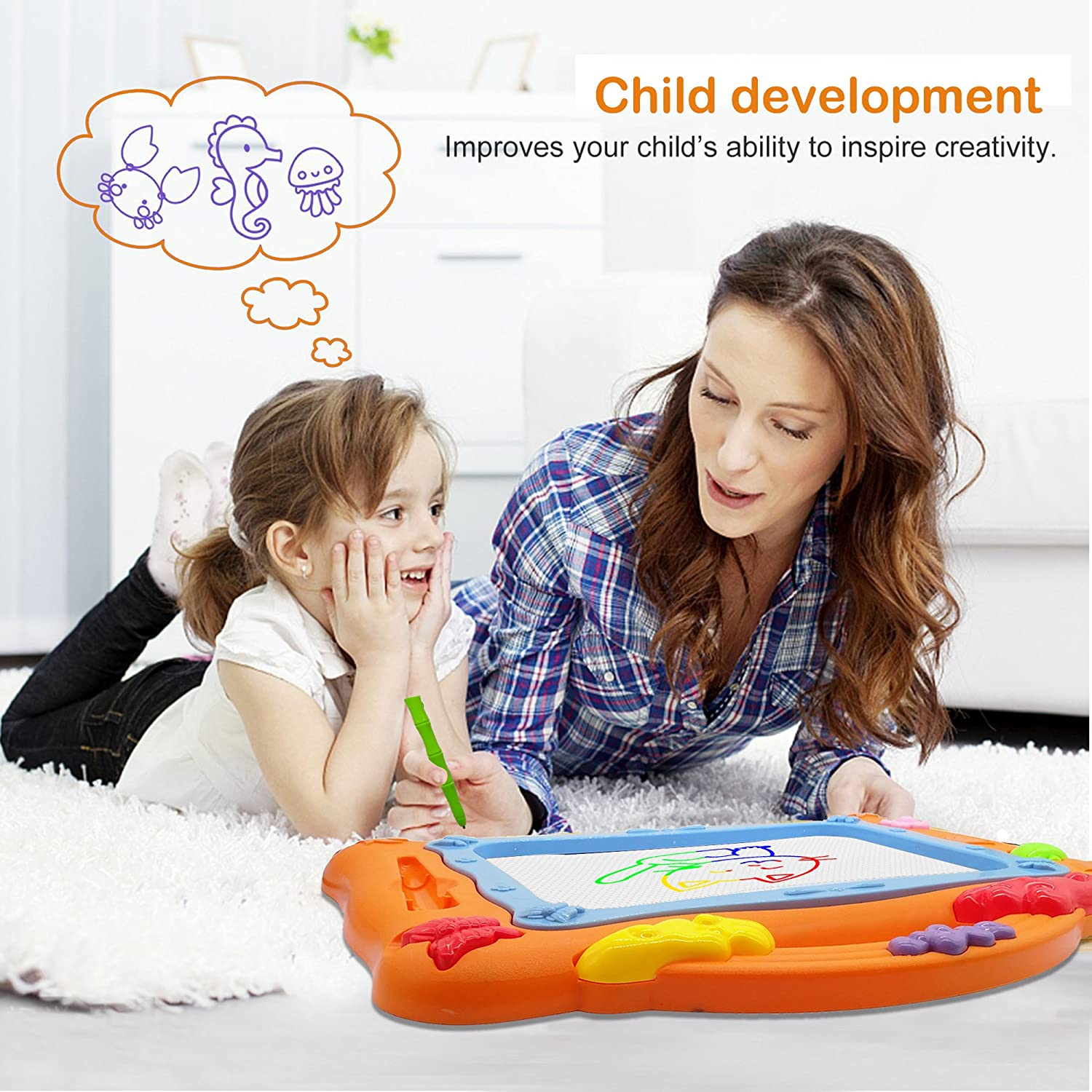 LOFEE Present for 1 2 3 4 Year Old Girl,Magnetic Drawing Board Gift ...