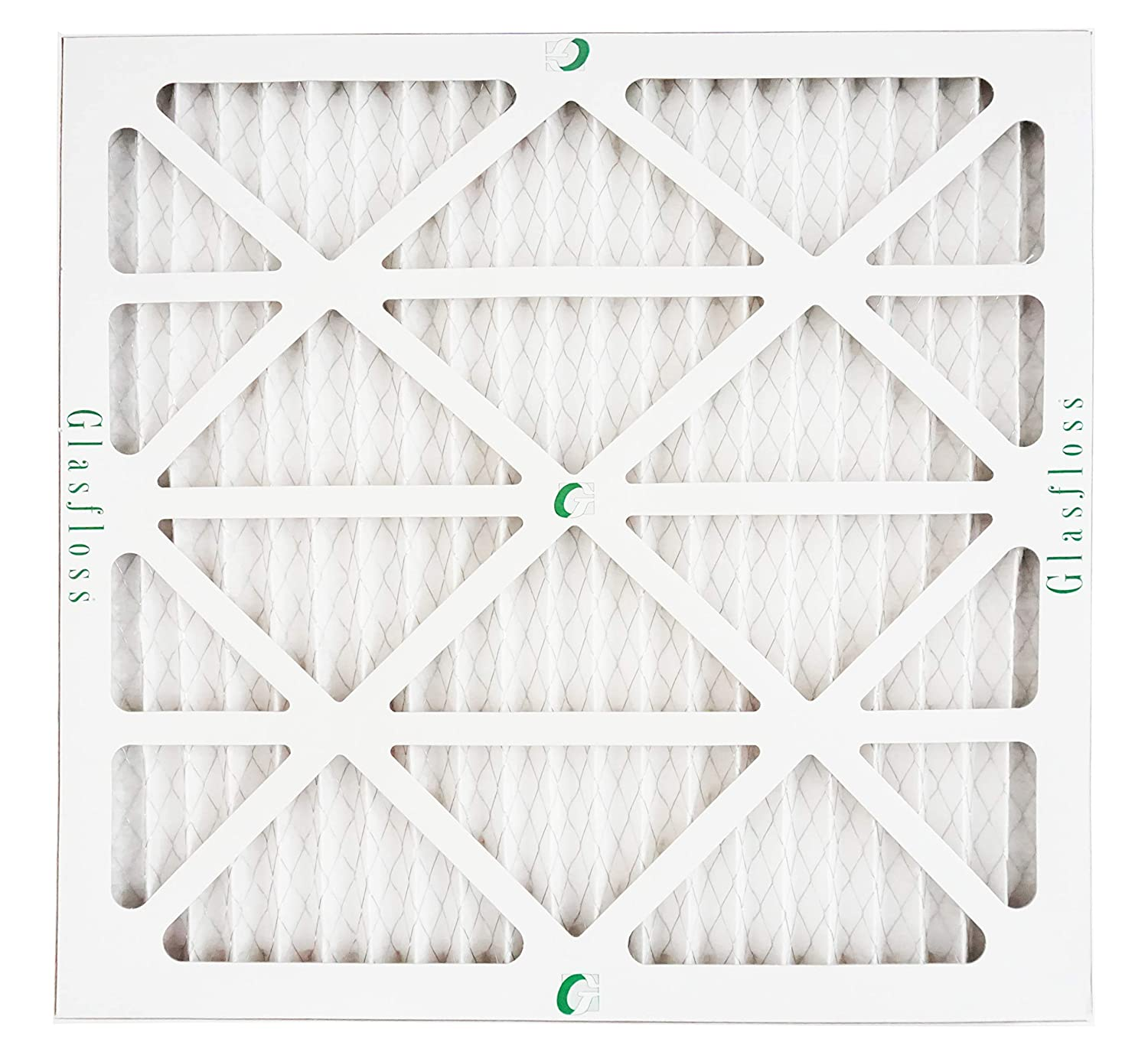 Pack of 12 Glasfloss 20x30x1 1 MERV 13 High Efficiency Pleated Air Furnace Filter- - Proudly Made In The USA.