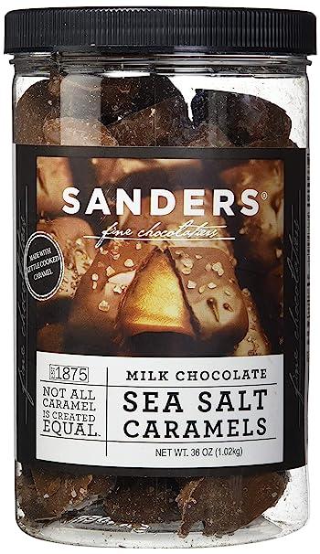Sanders Milk Chocolate Sea Salt Caramels - 36 Oz  (2 25 lb)
