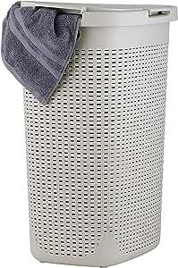 1.7 Bushel Laundry Hamper Palm Luxe (Beige)